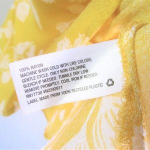 Ava & Viv Tops - Ava & Viv yellow floral peplum sleeveless blouse
